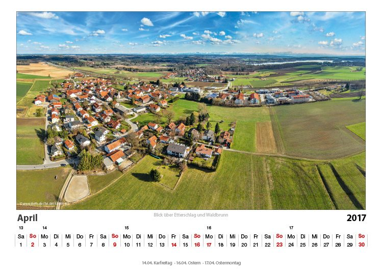 Wörthsee-Kalender 2017 April